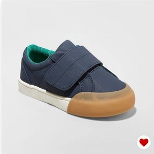 Cat & Jack Shoes - Cat & Jack Boys Navy Leather Santana Sneakers